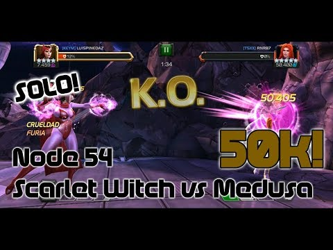 [AW] Scarlet Witch vs R5 Medusa AW Boss - Marvel Contest of Champions
