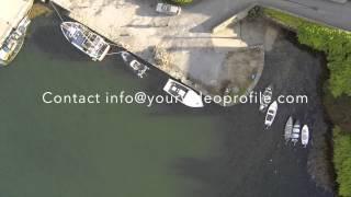 Aerial, Roundstone Harbour, Connemara,