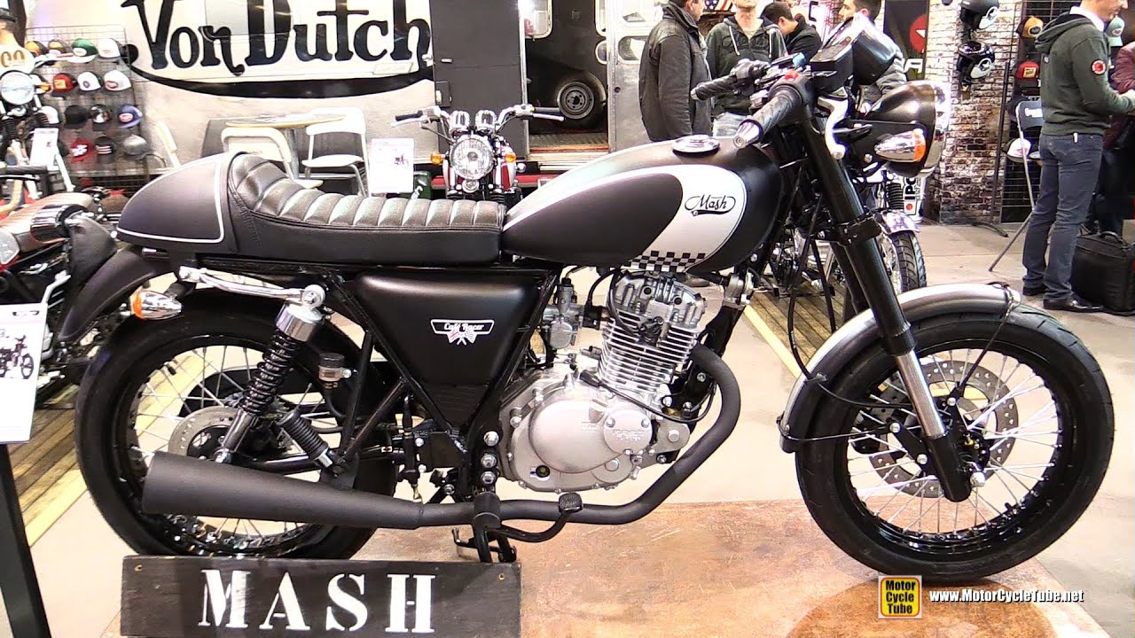 2016 mash cafe racer 125 - walkaround - 2015 salon de la moto
