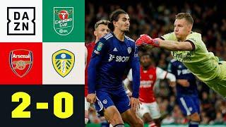 Leno hält hinten dicht - Gunners im Viertelfinale: Arsenal - Leeds 2:0 | Carabao Cup | DAZN