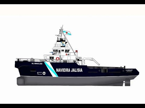 "OFFSHORE TUG SIMULATOR. NAVIEIRA JALISIA, on board ""NJ GALLAECIA""."