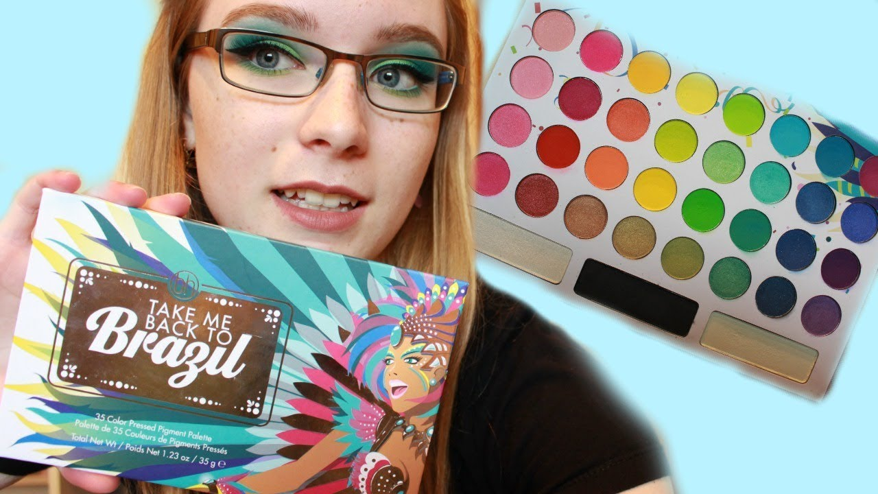 take me back to brazil review demo swatches bh cosmetics 35 color pressed pigment palette. Black Bedroom Furniture Sets. Home Design Ideas