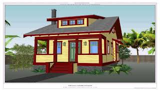 Tiny House Plans With Dormers  See Description
