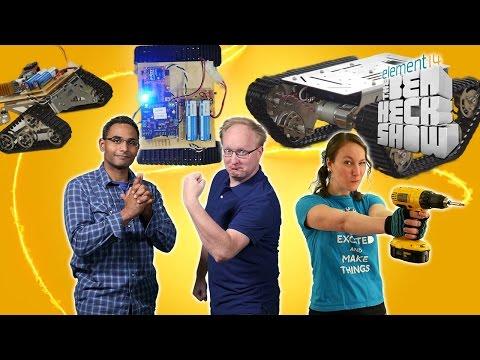 Ben Heck's Hackbot Wars Part 2: Weapons