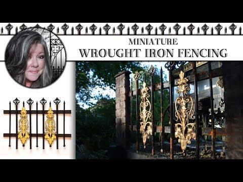 🛠Miniature Wrought Iron Fence Tutorial🛠