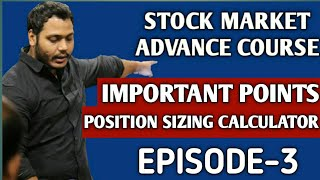 Advance Stock Market Course for Job Holders | Episode-3