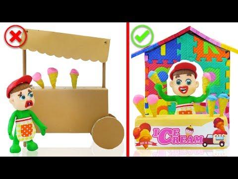 SUPERHERO BABY BUILD ABC ICE CREAM PARLOR 馃挅 Animation Cartoons Play Doh