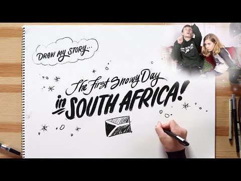 First Snowy Day In South Africa with Vanessa & Talbot | Draw My Story | HiHo Kids