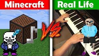 MEME SONGS - Minecraft VS Real Life Piano