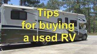 How To Tips for Buying a Used RV