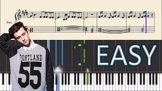Скачать Troye Sivan Blue Moon EASY Piano Tutorial