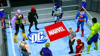 Marvel vs DC EPIC FIGHT! (WWE 2K19 Gameplay)