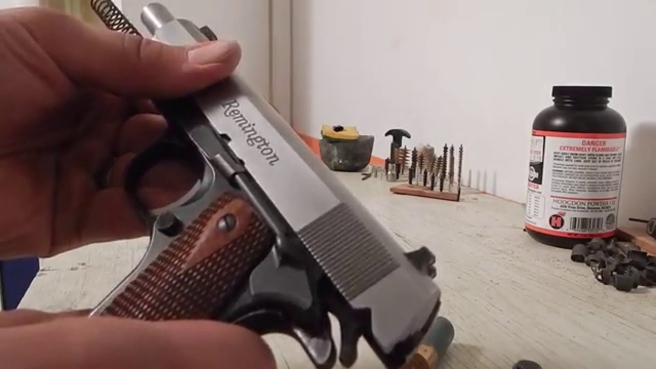 Field Stripping 1911 (Remington R1)