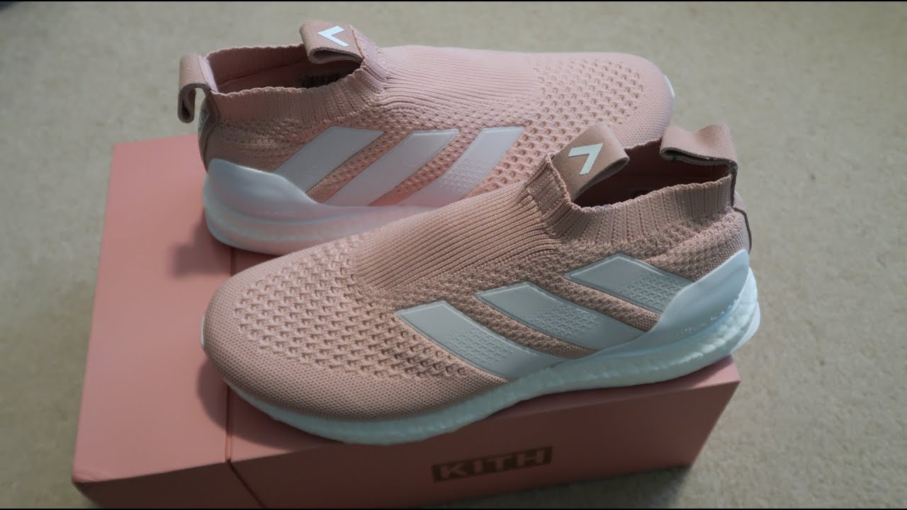 new style e80da 32c13 Kith x Adidas Ace 16+ PureControl Ultra Boost  Flamingo  Sneaker Unboxing