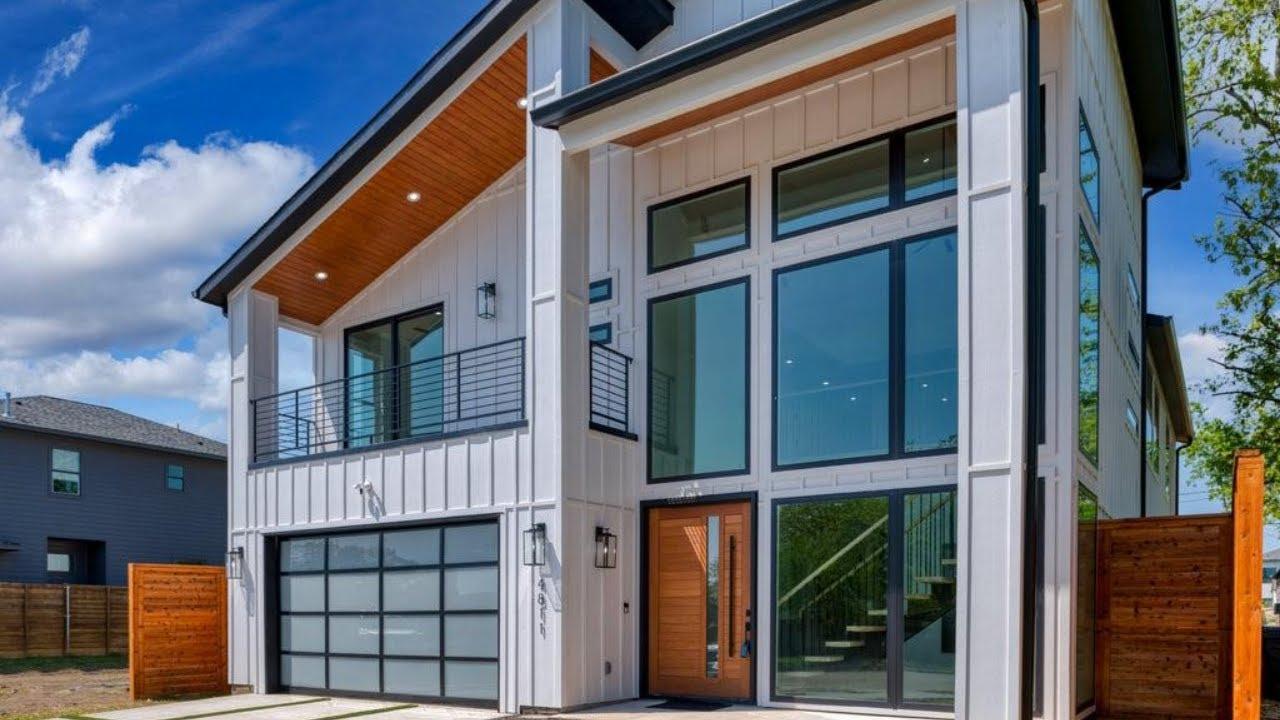 Luxury Spa-Like Modern Farmhouse, Glass Wine Closet, Media Room, 4-Bed, 4-Bath, For Sale in Dallas