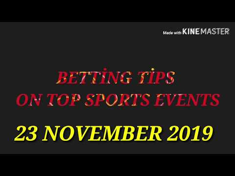 FOOTBALL PREDICTIONS (SOCCER BETTING TIPS) TODAY 23/11/2019