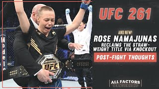 Weili Zhang vs Rose Namajunas Post-Fight Thoughts | Thug Rose Reclaims Strawweight Gold via KO