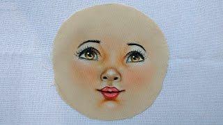 Como pintar carinha de boneca de pano 01 – Part 2 Final