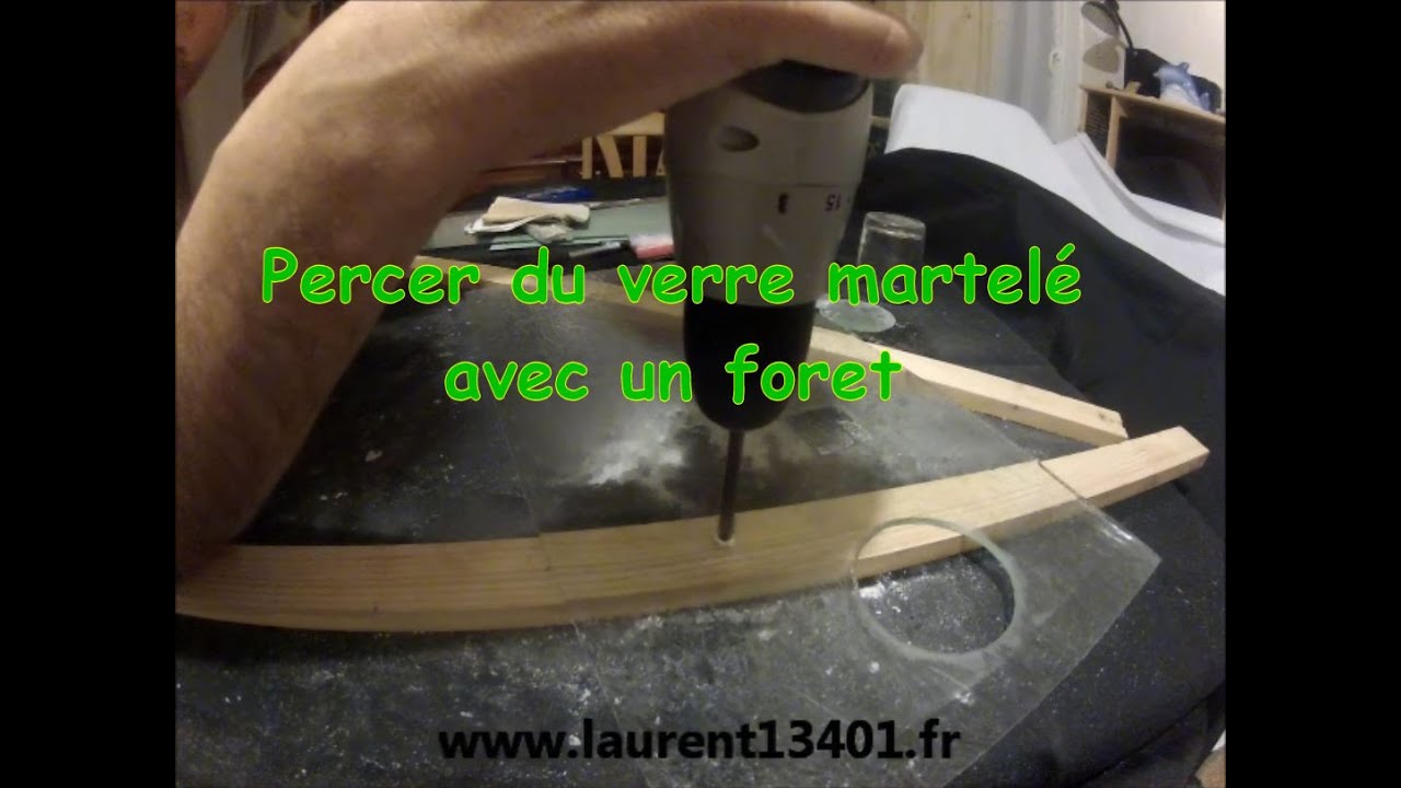 percer du verre martel avec un foret youtube. Black Bedroom Furniture Sets. Home Design Ideas