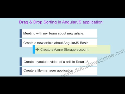 Reordering list via drag & drop in AngularJS application   DotNet