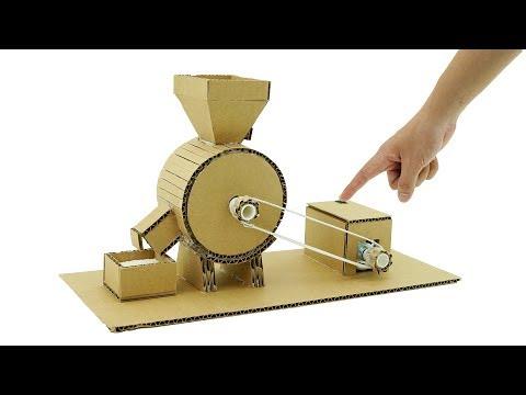 How To Make Mini Flour Mill Machine form Cardboard