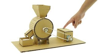How To Make Mini Flour Mill Machine form Cardboard