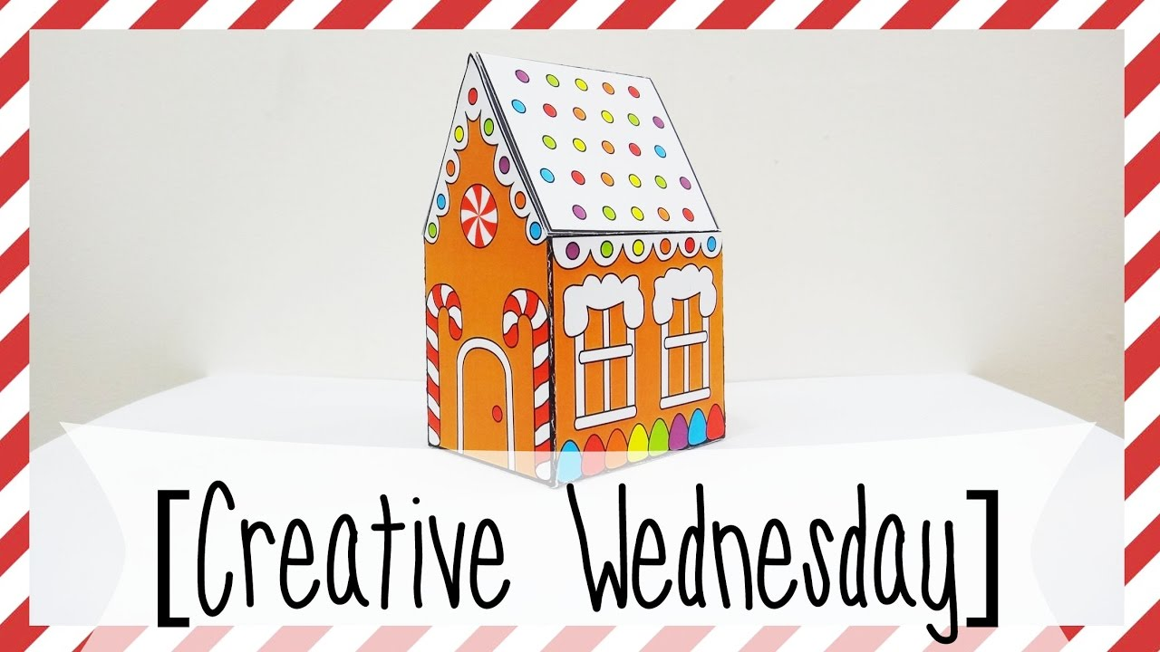 Diy Pop Up Gingerbread House Card Free Template Easy Creative
