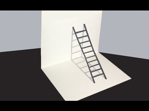 optical illusion draw drawing 3d ladder