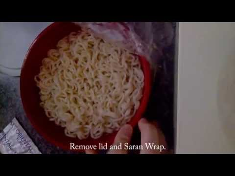 Food Vlog #1   How To Make Ramen In a Plastic Bowl