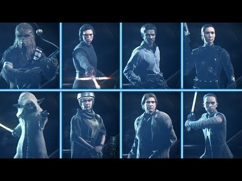 ALL 8 NEW HERO SKINS WITH GAMEPLAY! Star Wars Battlefront 2