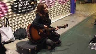 Megumi Mori street live 貴重な吉祥寺サンロードでのアンプラグド フル...