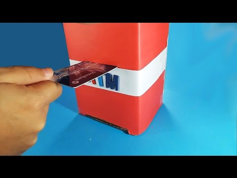 Papercraft How to Make ATM Machine - Piggy Bank for kids