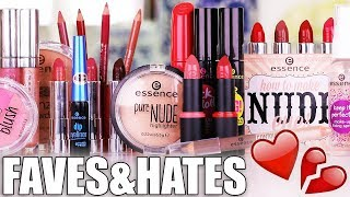 essence cosmetics faves and hates