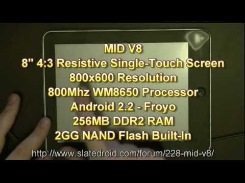 MID V8 - First Review - Custom ROM - Modroid V7