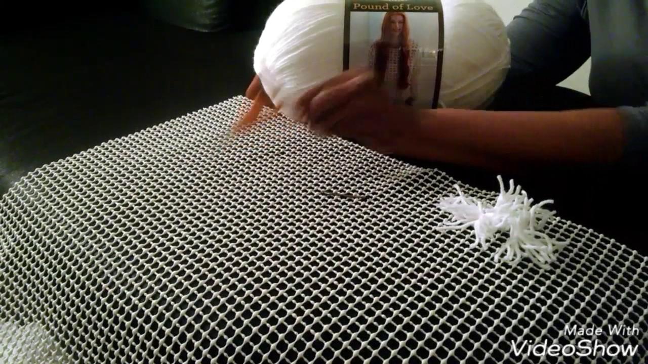 DIY| White Shag Rug |Area Rug   YouTube