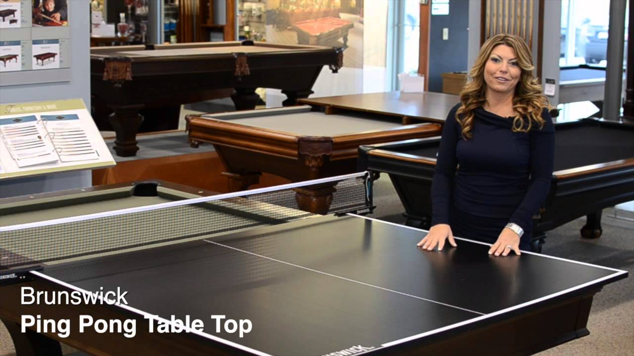 Exceptional Danny Veghu0027s Brunswick Ping Pong Table Top   YouTube