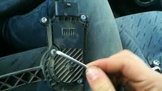 Регулювання чутливості педалі е-газу ваз