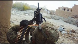 MK-48 and M203's Fired at Taliban During Firefight