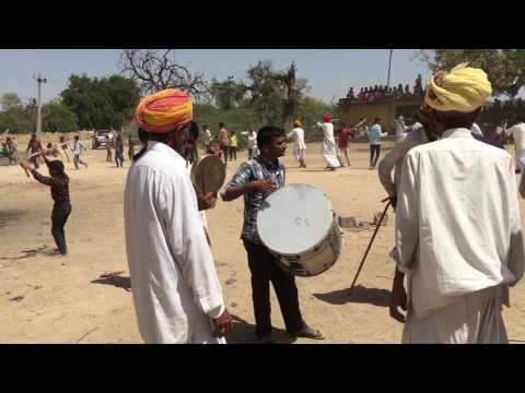 Marwadi desi gair , ger with desi dhol and thali live video