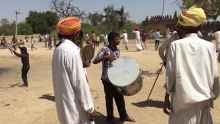 Marwadi desi gair , ger with desi dhol and thali live video