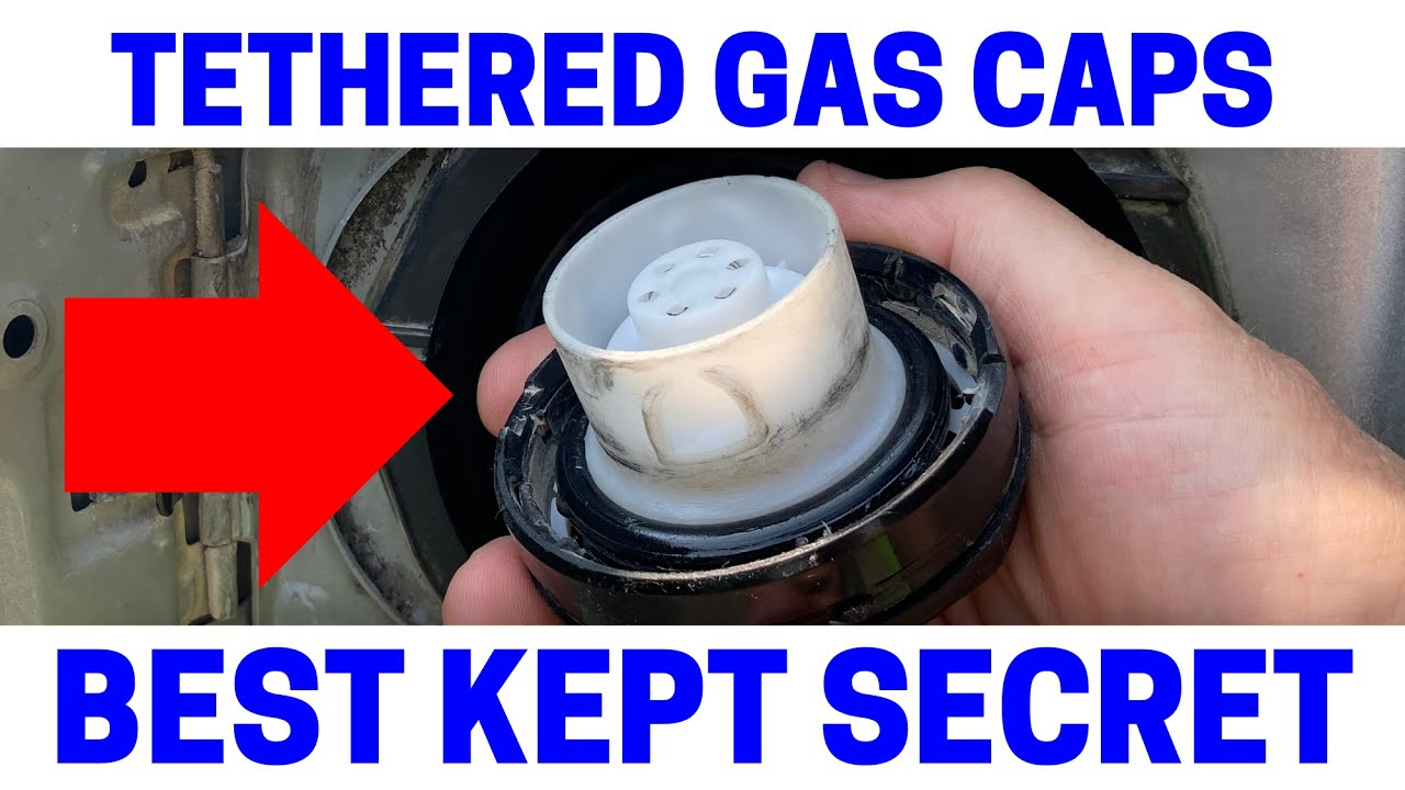 how to safely replace tethered gas caps on your car