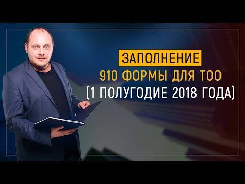 Заполнение 910 формы для ТОО (1 полугодие 2018 год)