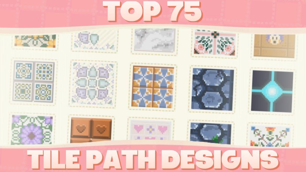 top 75 custom tile path designs for animal crossing new horizons