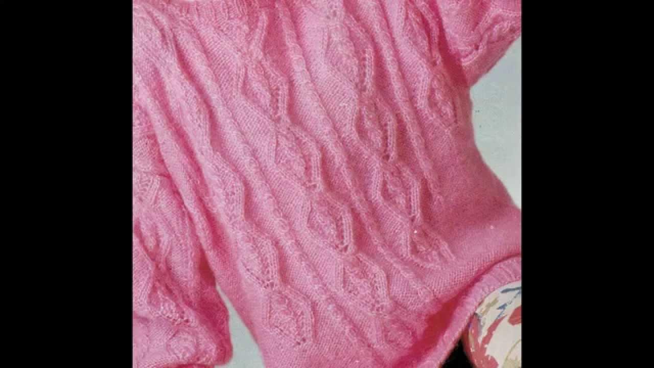 Patrón para tejer jersey con rombos de trenza - YouTube