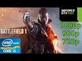 Battlefield 1 - i5 4460 - 8GB RAM - GTX 1060 - 1080p - 900p - 720p