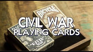 Civil War Playing Cards - Kings Wild Project - Deck Review