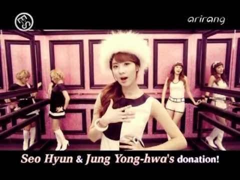 110305 Seohyun & Yonghwa Cut @ Arirang   Showbiz Extra HQ