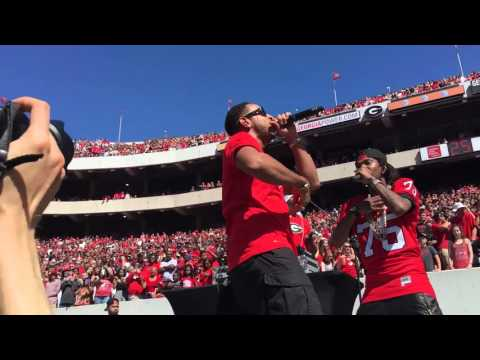 Ludacris plays G-Day at Sanford Stadium