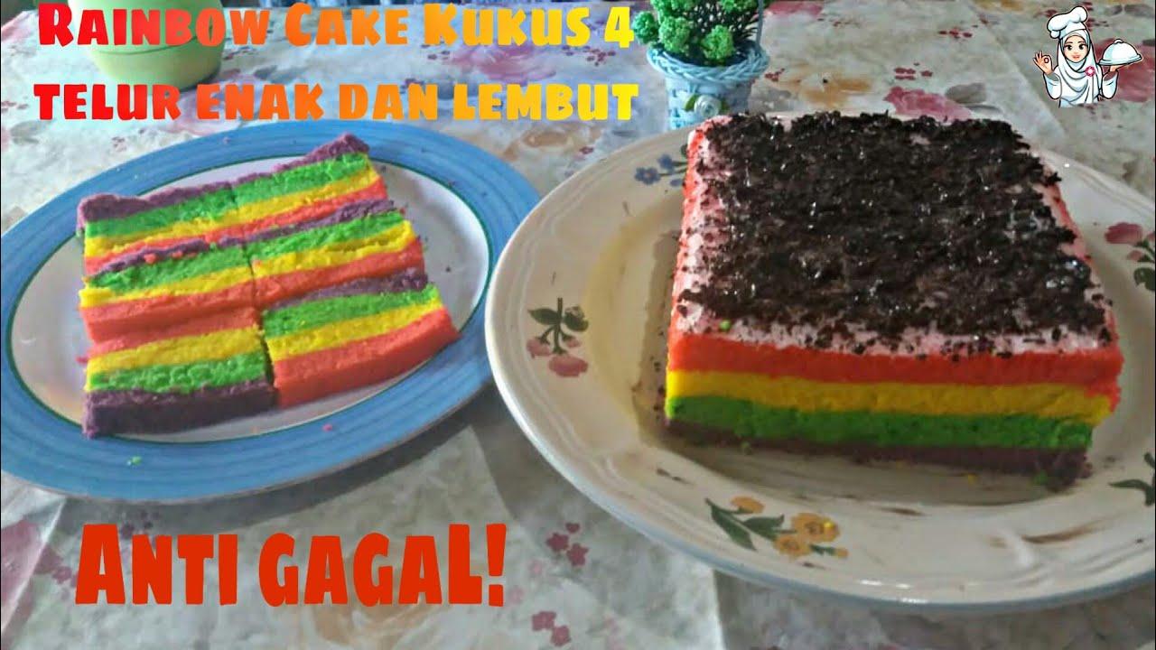 Resep rainbow cake kukus mudah dan enak - YouTube