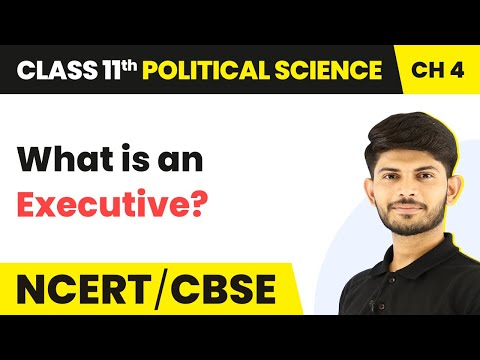 What is an Executive? - Executive | Class 11 Political Science